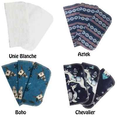 Lingettes en flanelle - Plus de 20 motifs en stock
