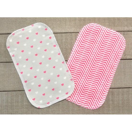 Papiers hygiéniques lavables - Écotidien -  petits coeurs