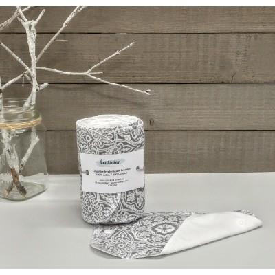 Papiers hygiéniques lavables - Écotidien -  fleurs grises