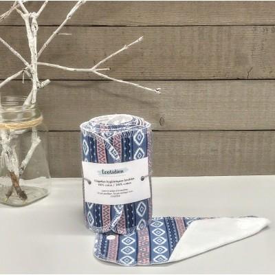 Papiers hygiéniques lavables - Écotidien -  géométrique bleu
