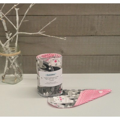 Papiers hygiéniques lavables - Écotidien - chats