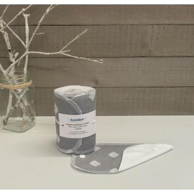 Papiers hygiéniques lavables - Écotidien -  losanges blancs