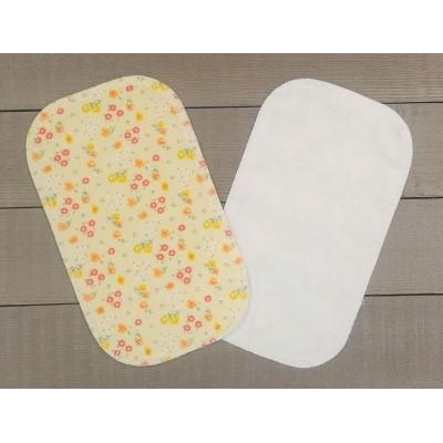 Papiers hygiéniques lavables - Écotidien -  Fleurs jaunes