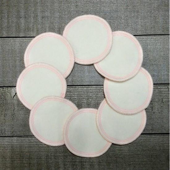 Tampons démaquillants - Écotidien - fil rose
