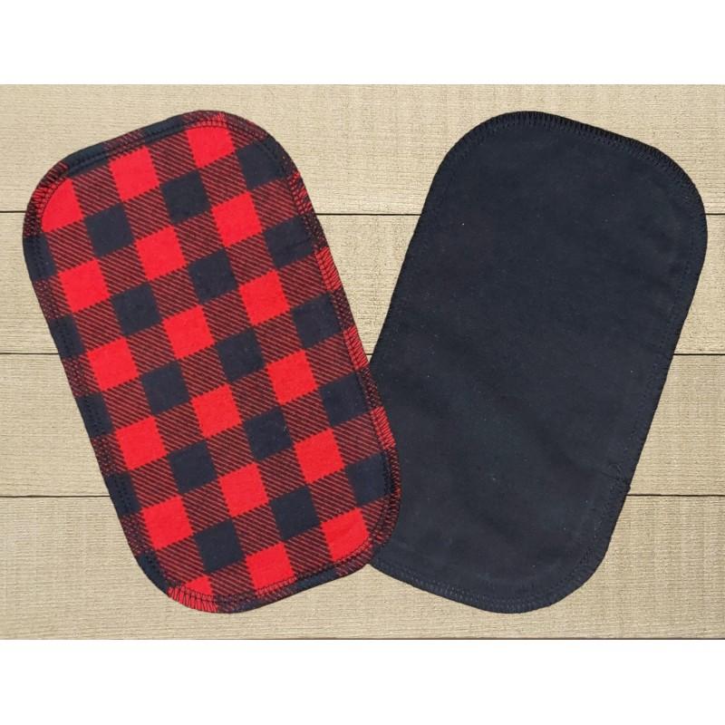 Papiers hygiéniques lavables - Écotidien -  bucheron rouge